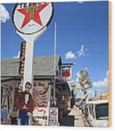 Route 66 - Seligman Arizona Wood Print