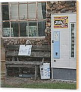 Route 66 Sinclair Gas Station Wood Print