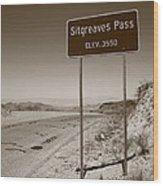 Route 66 - Sitgreaves Pass Wood Print