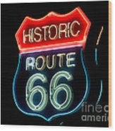 Route 66 Wood Print by Theodore Clutter