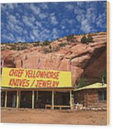 Route 66 Trading Post Wood Print