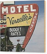 Route 66 - Vernelle's Motel Wood Print