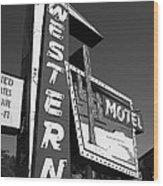 Route 66 - Western Motel 7 Wood Print