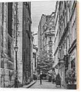 Route Parisian Wood Print