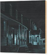 Row Homes Wood Print