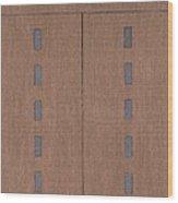 Row House 101 Wood Print