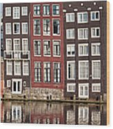 Row Houses In Amsterdam Wood Print