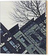 Row Houses In Washington Heights Wood Print