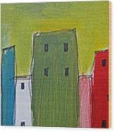 Row Houses Wood Print