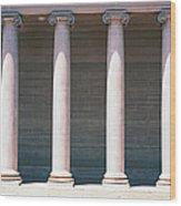 Row Of Columns San Francisco Ca Wood Print
