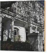 Row Of Edwardian Houses In London Wood Print