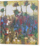 Row Of Palms Wood Print