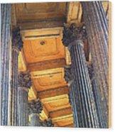 Row Of Pillars Wood Print