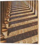 Row Of Pillars Wood Print by Garry Gay