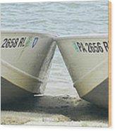 Row Row Row Your Boat Wood Print