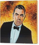Rowan Atkinson Alias Johnny English Wood Print