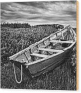 Rowboat At Prospect Point - Black And White Wood Print
