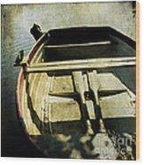 Rowboat Wood Print