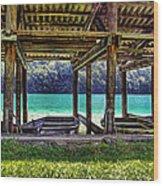Rowboat Parking Wood Print
