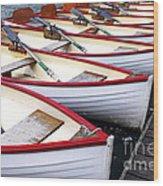 Rowboats Wood Print by Elena Elisseeva