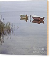 Rowboats On Nonnensee Wood Print
