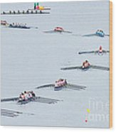 Rowers Arc-natural Wood Print