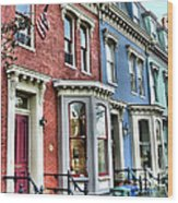Rowhouses Of Eastern Market Xiv Wood Print