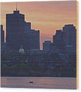 Rowing Boston Wood Print