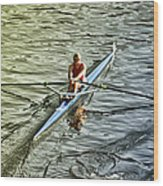 Rowing Crew Wood Print by Bill Cannon