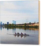 Rowing In Philadelphia Wood Print