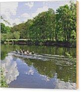 Rowing Practice - Near Branston Wood Print