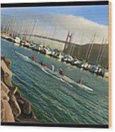 Rowing To The Golden Gate Bridge Wood Print
