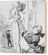 Rowlandson: Cartoon, 1810 Wood Print