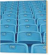 Rows Of Emtpy Seats Wood Print