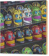 Rows Of Skulls Wood Print