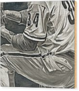 Roy Halladay Wood Print by David Courson