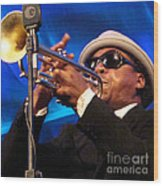 Roy Hargrove 2 Wood Print by Eva Kato