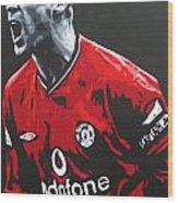 Roy Keane - Manchester United Fc Wood Print