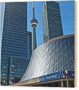 Roy Thomson Hall And Cn Tower Wood Print