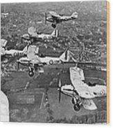 Royal Air Force Formation Wood Print