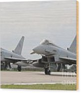 Royal Air Force Typhoon Aircraft  Wood Print