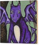 Royal Amethyst Dragon Pup Wood Print