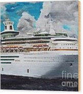 Royal Caribbean Sovereign Of The Seas Wood Print