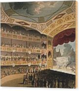 Royal Circus From Ackermanns Repository Wood Print by T. & Pugin, A.C. Rowlandson