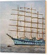 Royal Clipper On Amalfi Coast Wood Print