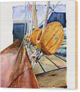 Royal Clipper Ships Tackle Wood Print