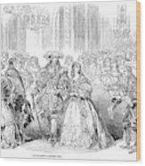 Royal Costume Ball, 1851 Wood Print