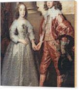 Royal Couple, 1641 Wood Print