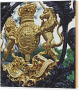 Royal Crest In London Wood Print