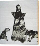 Royal Dogs Wood Print